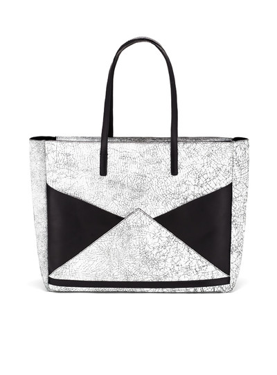 The Carryall Tote - Cracked Black | FACINE