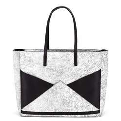 The Carryall Tote - Cracked Black   FACINE